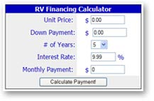 Awesome To Use A Used RV Financing Calculator, Type The Purchase Price Of  At Websites Of Financial Institutions As Well As Generalpurpose RV Sites Calculators For New And Used RVs Work The Same Way In Order To Qualify For An RV Loan, It